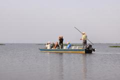 Rockjumper's 2010 Brazil birding tour groups on the Rio Claro lake in the Pantanal