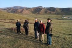Rockjumper's 2019 China birding tour group happy after finding Przevalski's Finch in Tibet