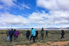 Rockjumper's 2019 Colorado birding tour group setting out in search of Sage Sparrows