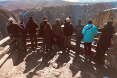 Rockjumper's 2019 Colorado birding tour group taking in the view at Black Canyon of Gunnison National Park