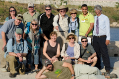 Rockjumper's 2017 Cuba birding tour group take a happy group photo with Forrest Rowland striking a pose