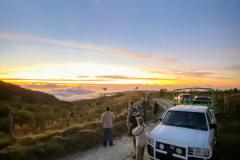 Rockjumper's 2020 Dominican Republic birding tour group enjoying a beautiful sunset