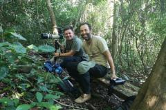 Daniel Danckwerts and Andre Bernon on Rockjumper's 2020 Ghana birding tour
