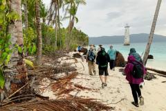 Rockjumper's 2019 Remote West Papuan Islands birding tour group birding the beachfront