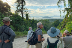 Rockjumper's 2019 Remote West Papuan Islands birding tour group enjoying a beautiful scenic view