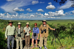 Rockjumper's 2018 Tanzania birding tour group take a photo at Serengeti Naabi