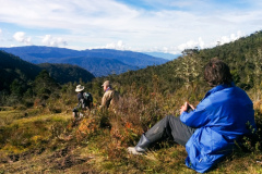 Rockjumper's 2018 West Papua birding tour group overlooking the Ibele Valley