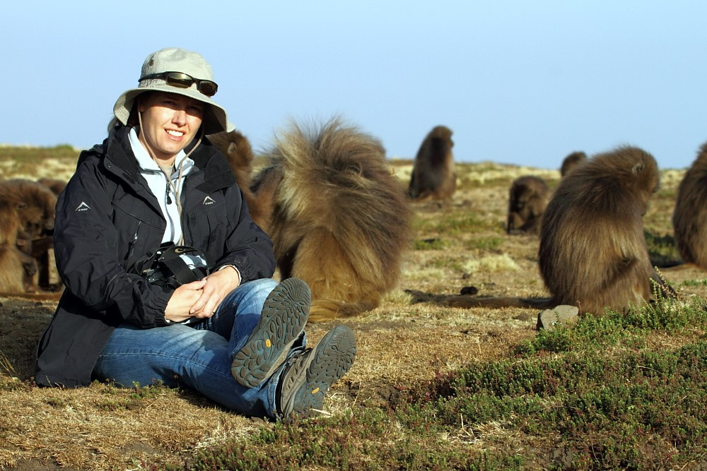 Spending time with Geladas