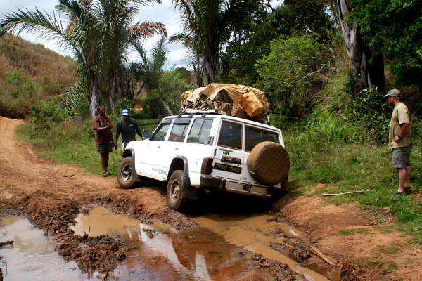 Challenging road conditions to reach Lake Bemanevika! Photo by Felicity Fryer