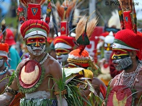 Melanesia includes Papua New Guinea, the Bismarcks, the Solomon Islands, Vanuatu, New Caledonia, and Fiji, and is one of the most culturally rich regions on the planet.