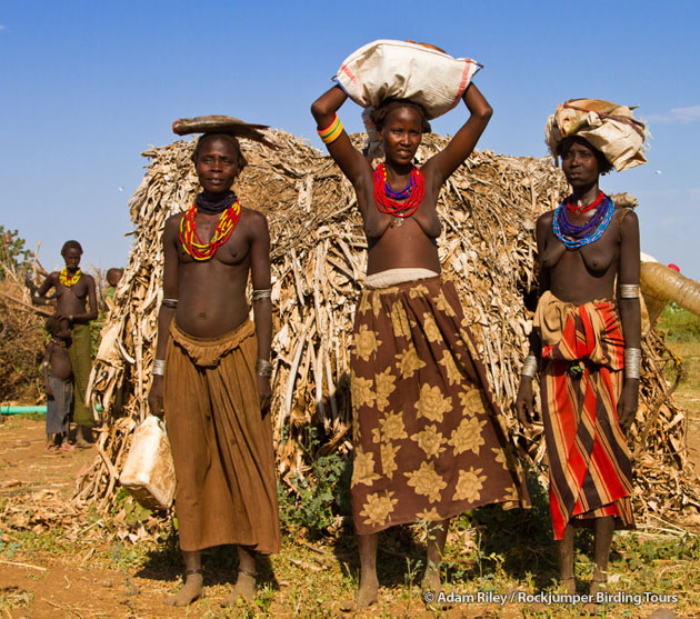Back from the market – Dassanech at their homestead