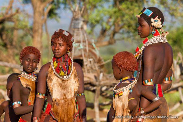Hamar ladies at their homestead near Turmi