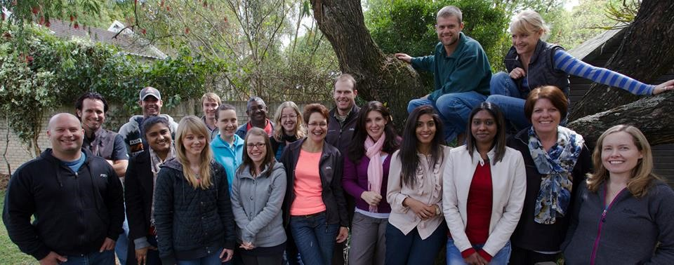 Office team in 2014 at the old office in Fettes Road, Pietermaritzburg