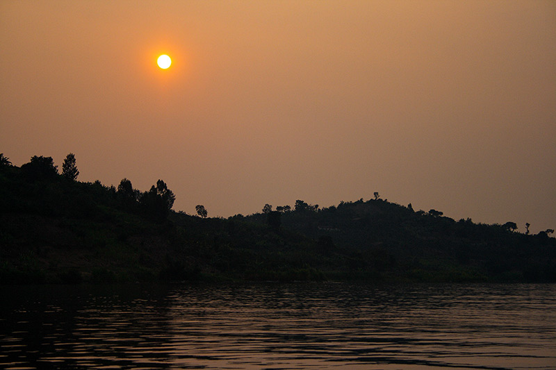 The sunset on Lake Kivu by Keith Valentine
