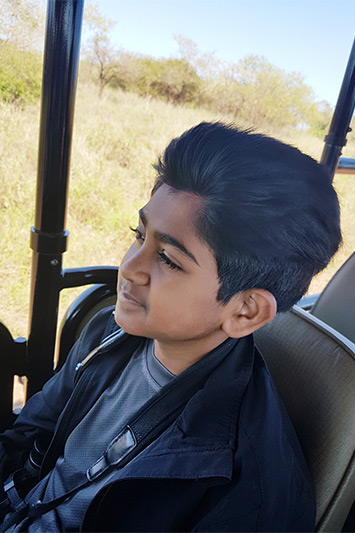 Nirav not wanting the game drive to end