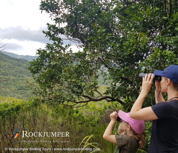 Niki and Daughter Birding on Mauritius